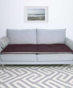 Luxury Wool Sofa Topper in Damson