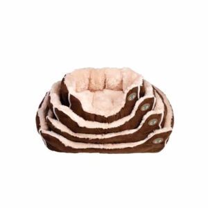 Brown Nordic snuggle dog bed