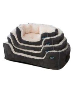 Grey Nordic snuggle dog bed