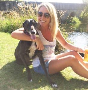 Roxy Greyhound Julie Holiday in kent