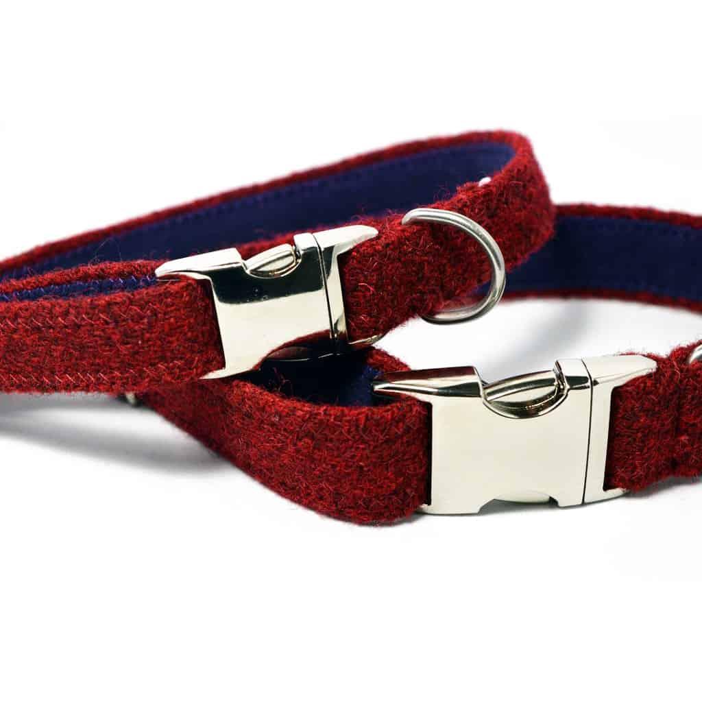 Harris Tweed Dog Collar And Lead