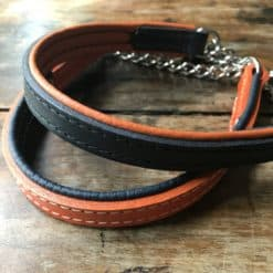 Half chain padded leather collars