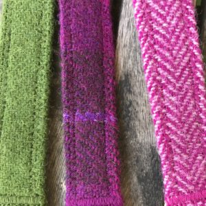 Pink Herringbone Harris Tweed Lead