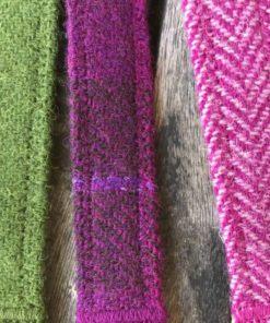 Pink Herringbone Harris Tweed Lead
