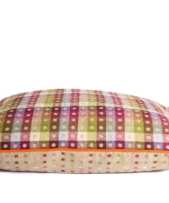 Grey with colourful spots pure new wool dog bed