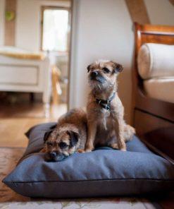 Slate grey twist dog cushion bed. Luxury Dog Beds UK