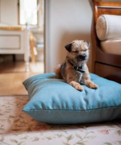 Aqua twist luxury blue dog cushion bed Luxury Dog Beds UK