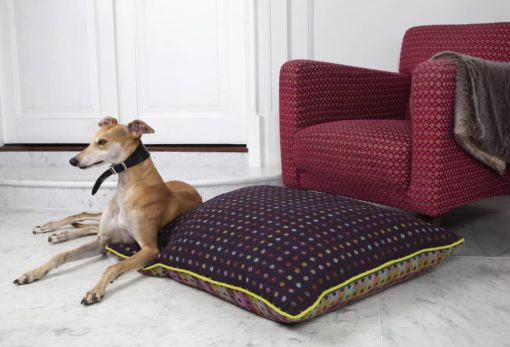 Luxury Mulberry multispot pure new wool dog bed