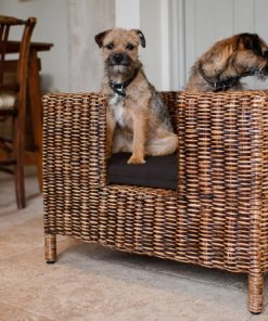 Wicker dog beds. Rattan.