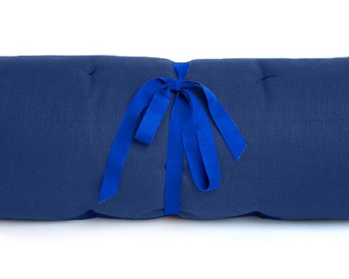 Dog travel bed roll, BLUE, organic