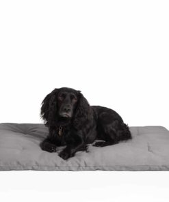 Dog travel bed roll, grey, organic