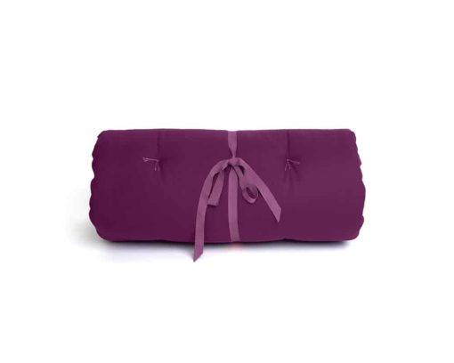 Dog travel bed roll, PURPLE, organic