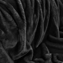 Black Softie Faux Fur Throw. Luxury faux fur blankets