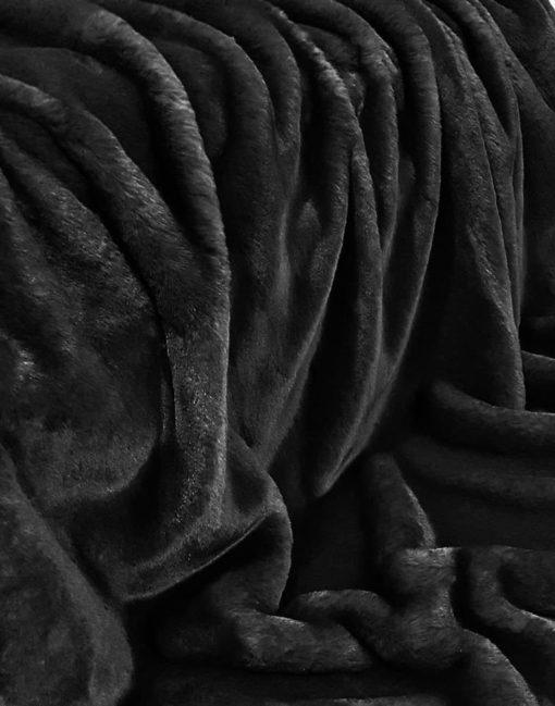Black Softie Faux Fur Throw. Luxury faux fur blankets
