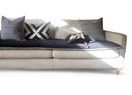 Ink Blue Velvet Luxury Sofa Topper . Sofa Protection