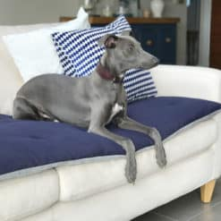 Ink Blue Velvet Luxury Sofa Topper. .Dog Sofa Protection