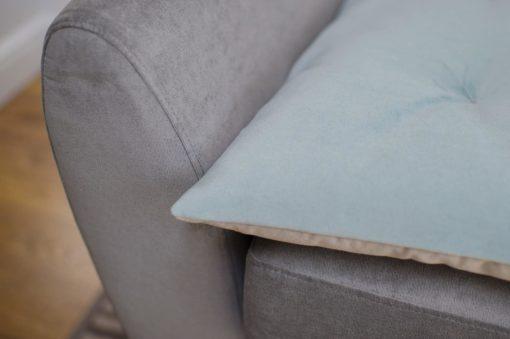 Sea Spray Blue Velvet Sofa Topper