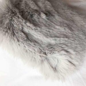 Silver Grey Faux Fur Throw Blanket
