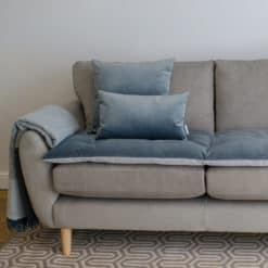 Slate Grey Velvet Sofa Topper