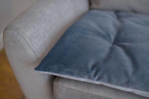 Slate Grey Velvet Sofa Topper