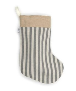 Flint Stripe Brushed Cotton Christmas Stocking