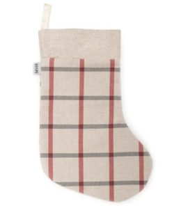 Nottingham Check with Linen Topper Christmas Stocking. Christmas gifts for dogs