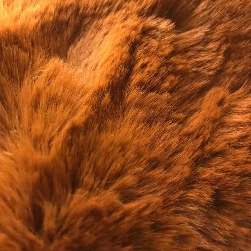 Autumn Brown Faux Fur Dog Blanket