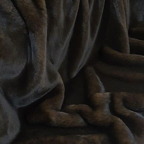 Brown Softie Faux Fur Throw. Luxury faux fur blankets