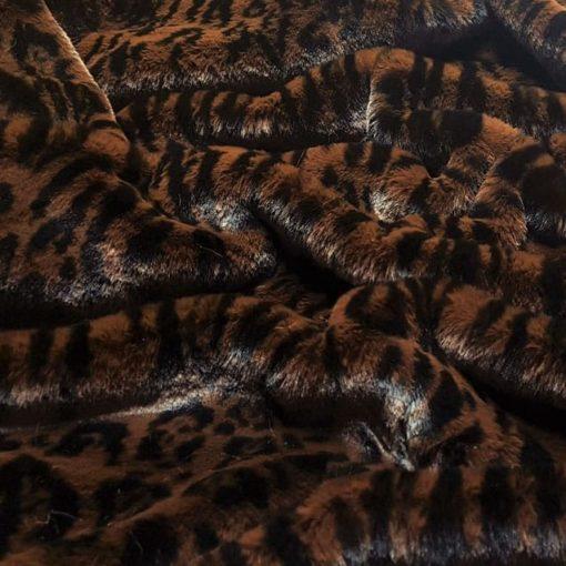 Dark Brown Leopard Luxury dog blankets