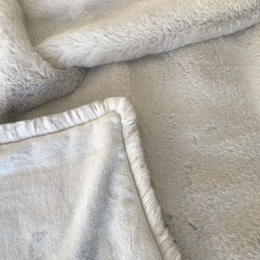 Grey Softie Faux Fur Throw. Luxury faux fur blankets