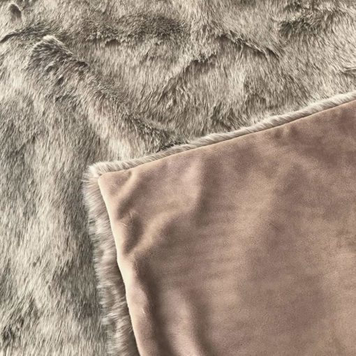 Koala faux fur throw backing and front. Luxury faux fur throws