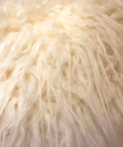 Mongolian Cream Faux fur throw. Luxury dog blankets