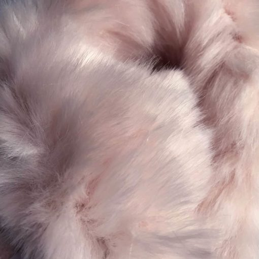 Pink Ripple Faux Fur Dog Blanket Throw - Buttermilk cream backing