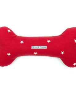 Red Star Dog Toy Bone
