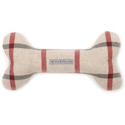 Nottingham Check Dog Bone with Squeaker toy