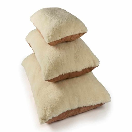Luxury cream merino wool dog pillow