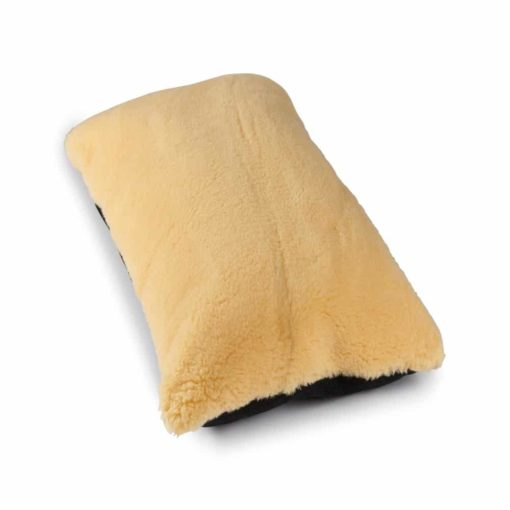 Cream wool mix cosy dog pillow bed
