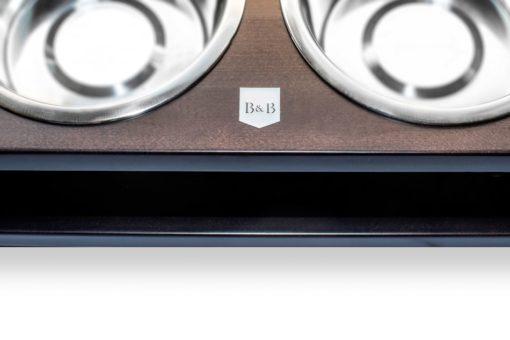 Chestnut Double Wooden Dog Bowls