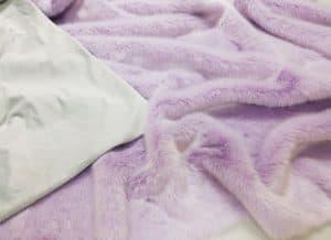 Lavendar lilac faux fur throw blanket