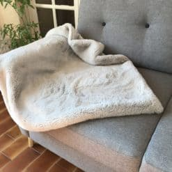 Silver Grey soft luxury sofa and bed throw blanket