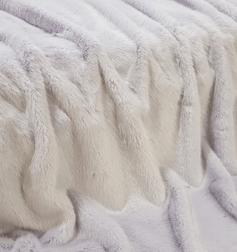Lavendar lilac faux fur throw blanket
