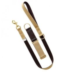 Beige & Brown luxury webbing dog collar.