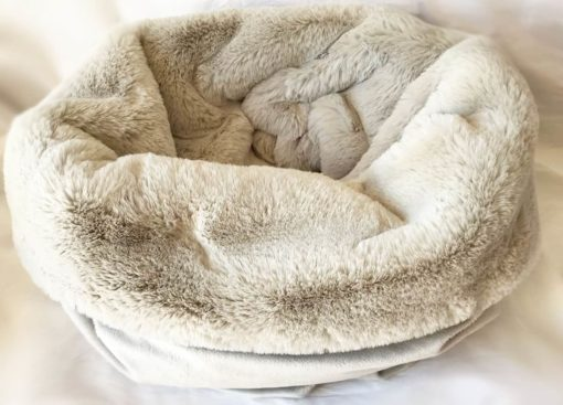 Silver softie pooch sac - dog sleeping bag and bed