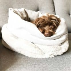 Faux fur dog sleeping bags - Pooch sac
