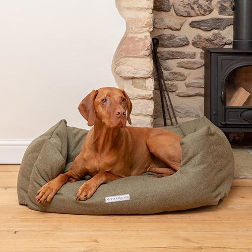 Tweed Boxy Dog Bed