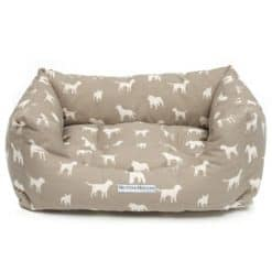Mutts and Hounds French Grey Boxy Dog Cushion