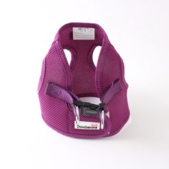 Purple airmesh snappy dog harness