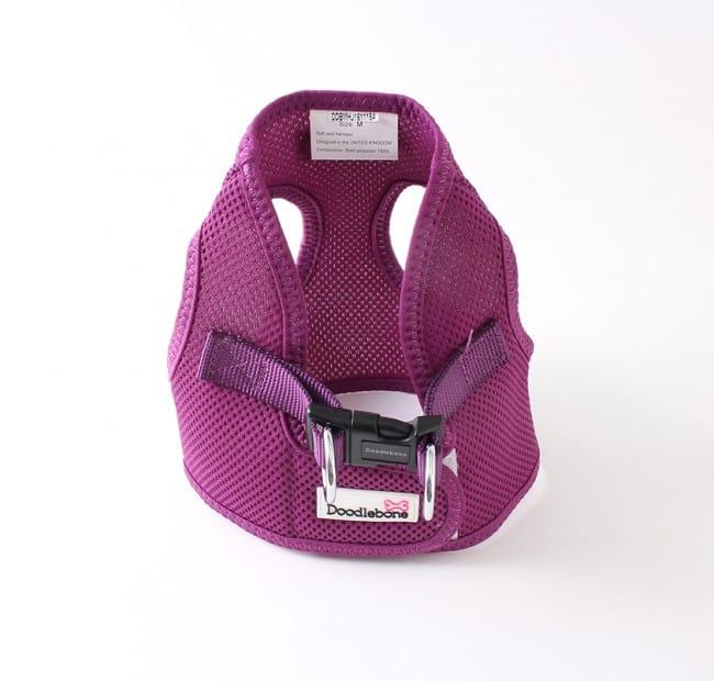 Purple airmesh snappy dog harness