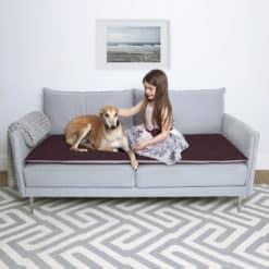 Damson wool sofa topper